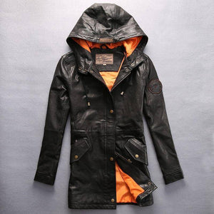 Avirex Fly Hooded Leather Jacket