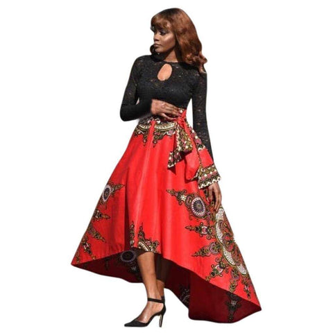 Image of Long Dress - Printed African Women Summer Long Dress