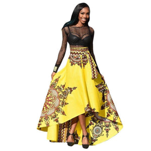 Printed African Women Summer Long Dress