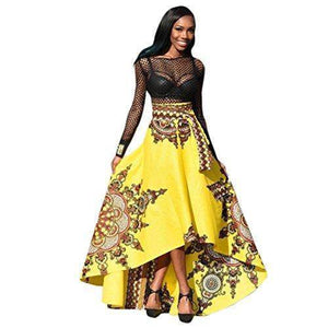Long Dress - Printed African Women Summer Long Dress