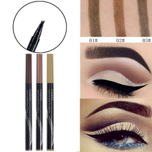 Microblading Pen - Eyebrow Beautifying Tool | 24 Hour Lasting 3 Colors Eyebrow Enhancing Pencil