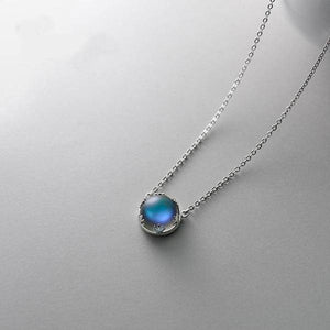 Necklaces - 55cm S925 Silver Pendant Necklace With Corona Crystal Gemstone For Women