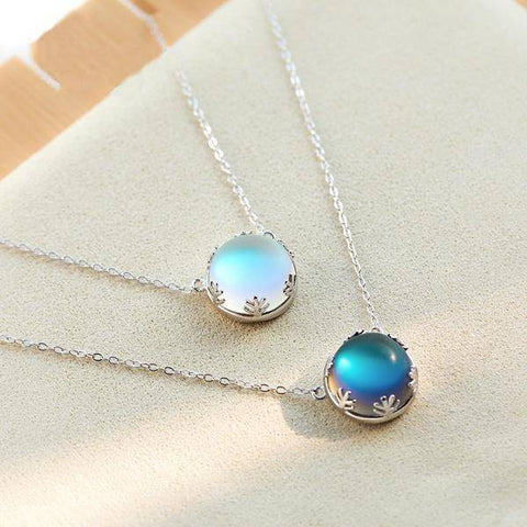 Image of Necklaces - 55cm S925 Silver Pendant Necklace With Corona Crystal Gemstone For Women