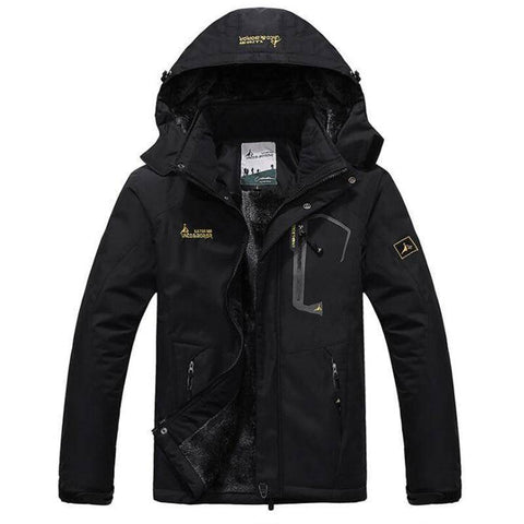 Parkas - Winter Parka Men Velvet Warm Windproof Hooded Coats