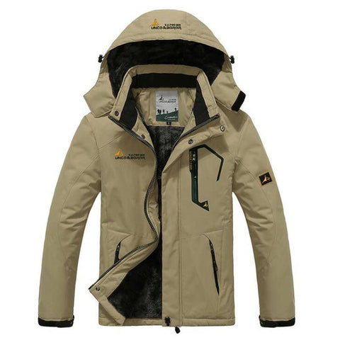 Image of Parkas - Winter Parka Men Velvet Warm Windproof Hooded Coats
