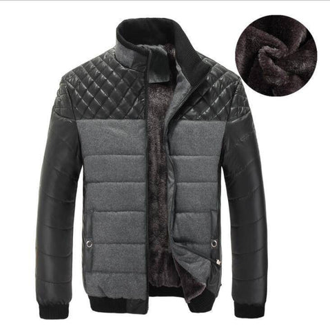 Parkas - Winter Thick Men's Patchwork  Jackets And Coats