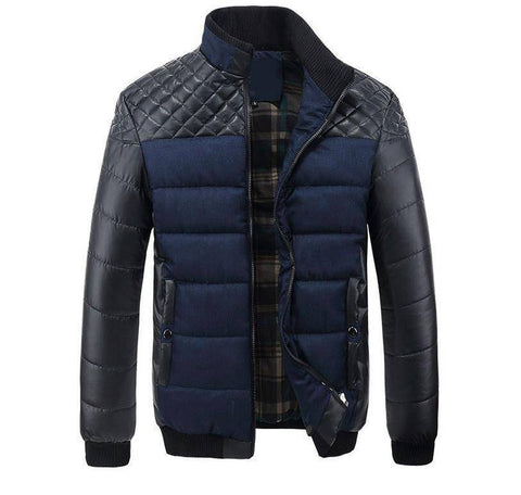 Image of Parkas - Winter Thick Men's Patchwork  Jackets And Coats