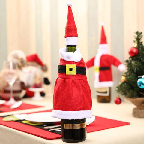 Pendant & Drop Ornaments - Christmas Wine Bottle Cover  Decorations