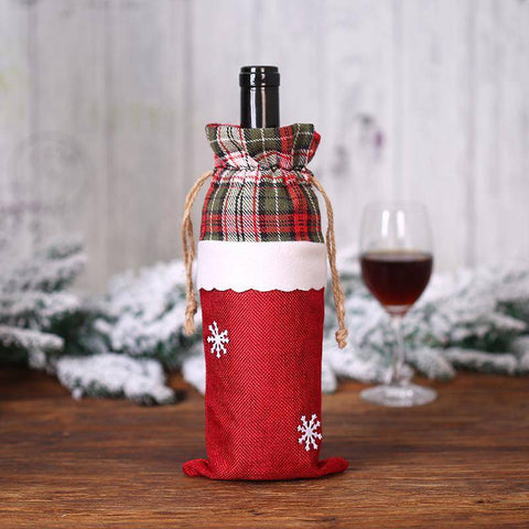 Image of Pendant & Drop Ornaments - Christmas Wine Bottle Cover  Decorations
