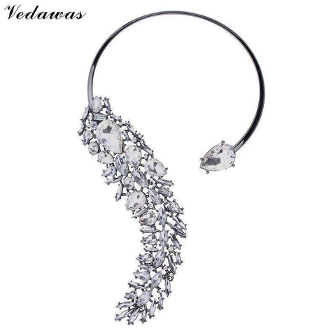 Image of Pendant Necklaces - Crystal Wedding Party Jewelry Necklace Choker Collar