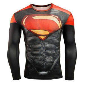 Super Hero Long Sleeve Compression Shirts For Gym