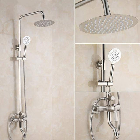 Image of Shower Head - Luxury Oil Rubbed Bronze Rainfall Shower Head Faucet |  High Pressure Shower Mixer Tap Black