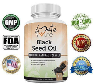 Supplement - Black Seed Oil High Potency Formula- All-Natural Cold-Pressed Black Seed Oil Capsules- Vegetarian Dietary Supplements- Non-GMO Pills