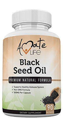 Black Seed Oil High Potency Formula- All-Natural Cold-Pressed Black Seed Oil Capsules- Vegetarian Dietary Supplements- Non-GMO Pills