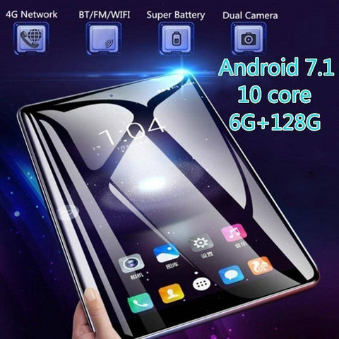 Image of Tablet - 11.6 Inch (RAM 6G+ROM 16G/32G/64G/128G) Ten Core 4G Network Android 7.1 Arge 2560*1600 IPS Screen WiFi Tablet PC Dual SIM Dual Camera Rear 13.0 MP IPS Buletooth MTK6797 Call Phone Tablet Gifts