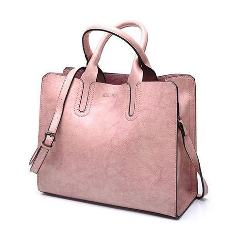 Image of Top-Handle Bags - Leather Tote  High Quality  Female Handbags