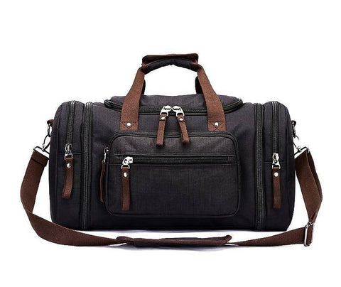 Image of Travel Bags - Soft Waterproof Men Travel Bags Carry On Large Capacity Duffel Water-repellent Bags