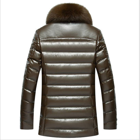 Winter Jacket - Winter Leather Long Fur Coats For Men