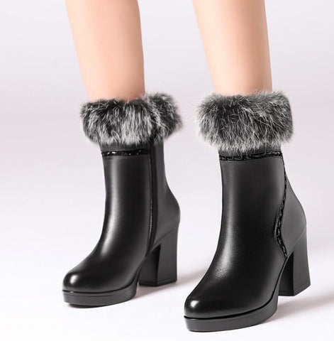 Women's Shoes - Warm Luxury Women's Boots