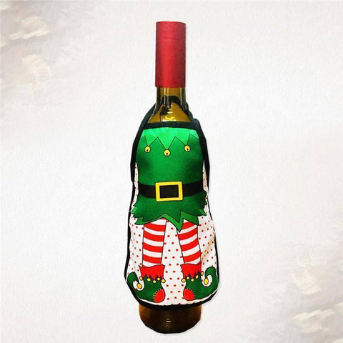 Image of Xmas Wine Bottle Cover Gift Bag Table Decoration