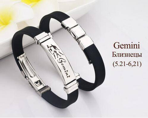 Zodiac Sign Bracelet With Stainless Steel Clasp