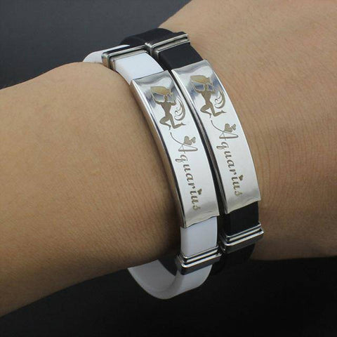 Zodiac Sign Stainless Steel Bracelet