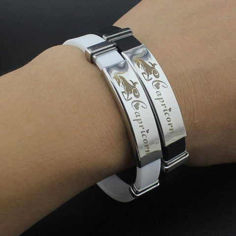 Image of Zodiac Sign Stainless Steel Bracelet