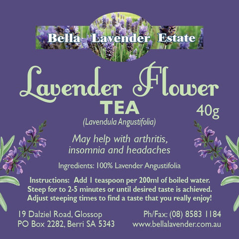 Lavender Flower Tea - Bella Lavender Estate