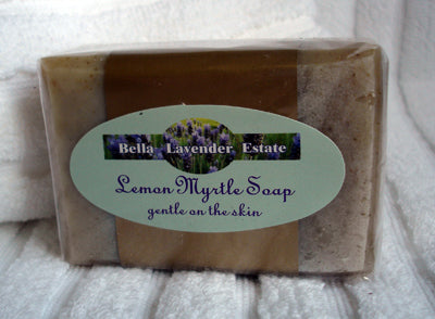 Lemon Myrtle & Lavender Soap Bar - 110g - Bella Lavender Estate