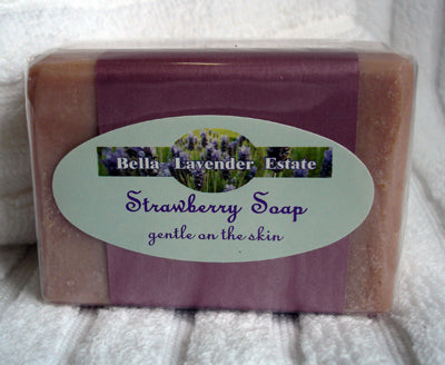 Strawberry  Soap - 110g - Bella Lavender Estate