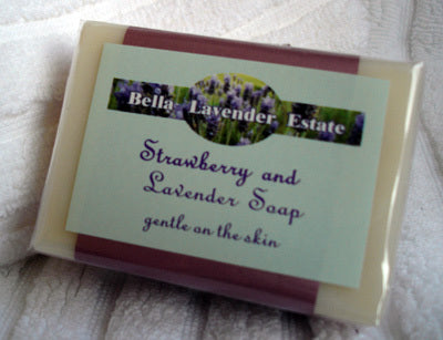 Strawberry & Lavender Soap - 110g - Bella Lavender Estate