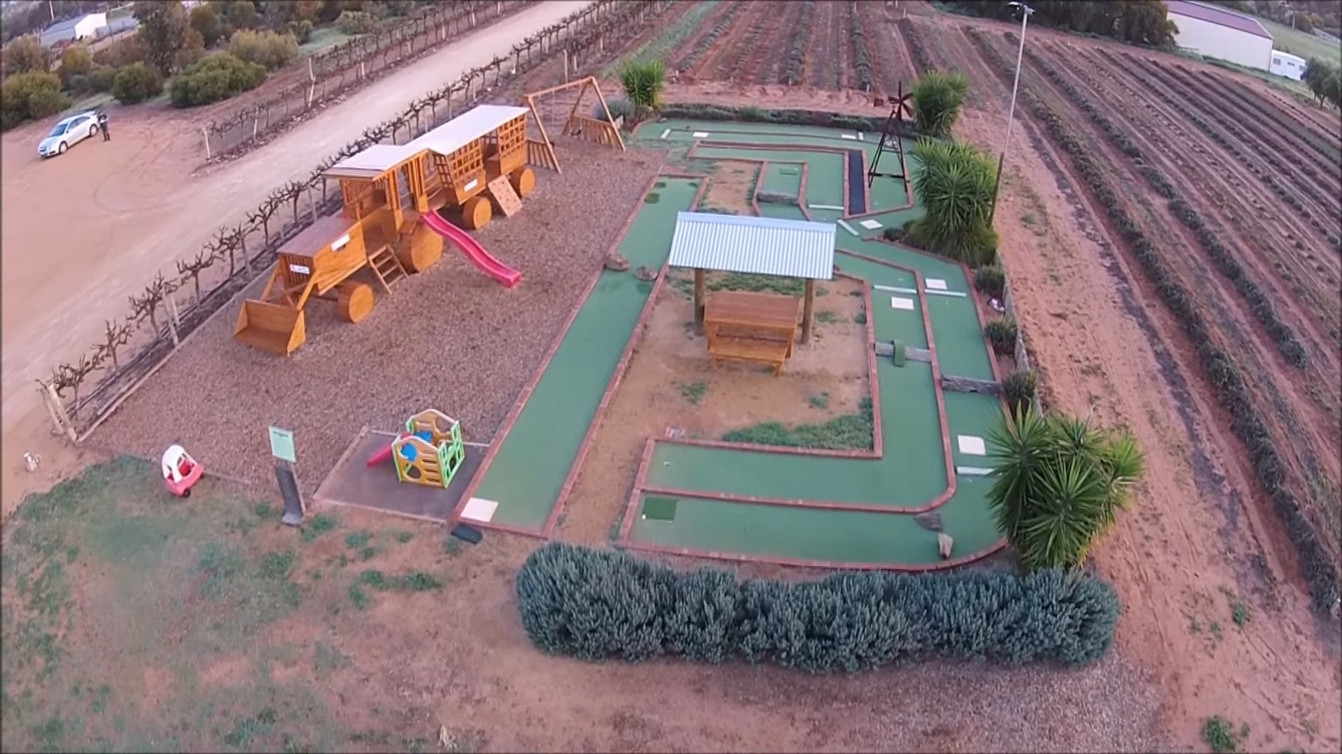 Childrens Playground & Mini Golf Course