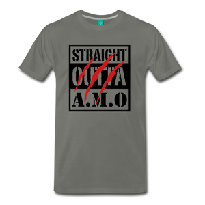 Straight Outta A.M.O T-Shirt - asphalt gray