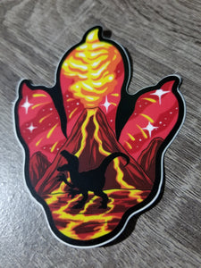 Deccan Traps Eruption Sticker