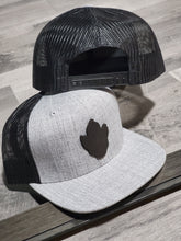 Load image into Gallery viewer, Flat Trucker Midnight Leather Logo