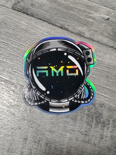 Load image into Gallery viewer, AMO Astronaut Helmet Holographic Sticker