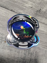 Load image into Gallery viewer, Goodnight Mars Helmet Holographic Sticker