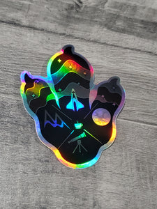 Logo Paw Holographic Sticker