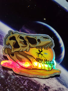 Amber Skull - Holographic Sticker