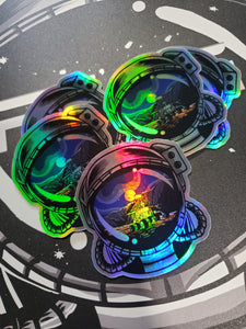 Goodnight Mars Helmet Holographic Sticker