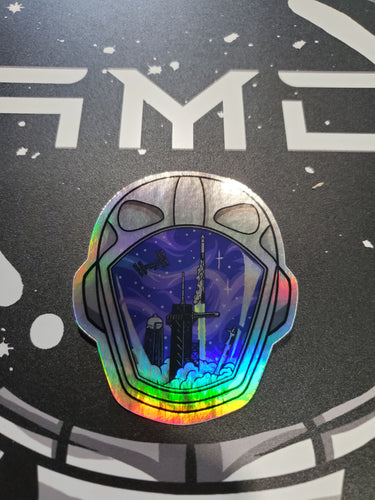 SpaceX Tribute Sticker Holographic