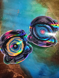 NGC - 7293 Helix Nebula Sticker set ! [ Holo ]