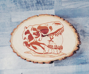 Amber Skull - Wooden Plaque