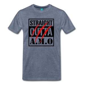 Straight Outta A.M.O T-Shirt - heather blue