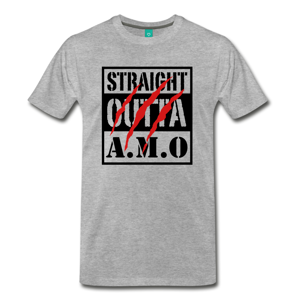 Straight Outta A.M.O T-Shirt - heather gray