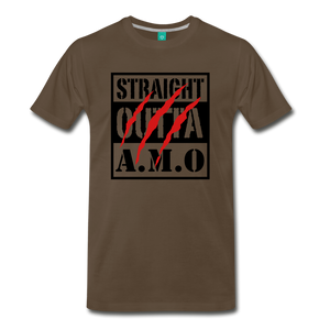 Straight Outta A.M.O T-Shirt - noble brown