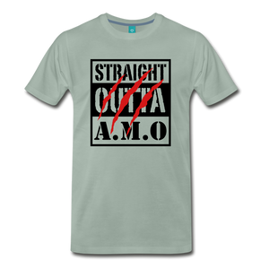 Straight Outta A.M.O T-Shirt - steel green