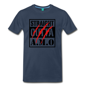 Straight Outta A.M.O T-Shirt - navy