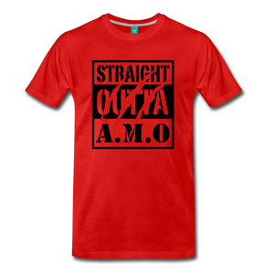 Straight Outta A.M.O T-Shirt - red