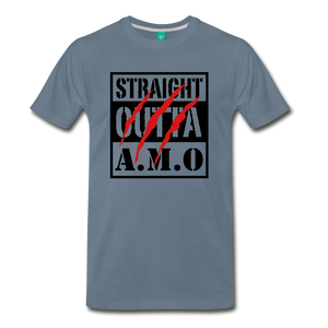 Straight Outta A.M.O T-Shirt - steel blue